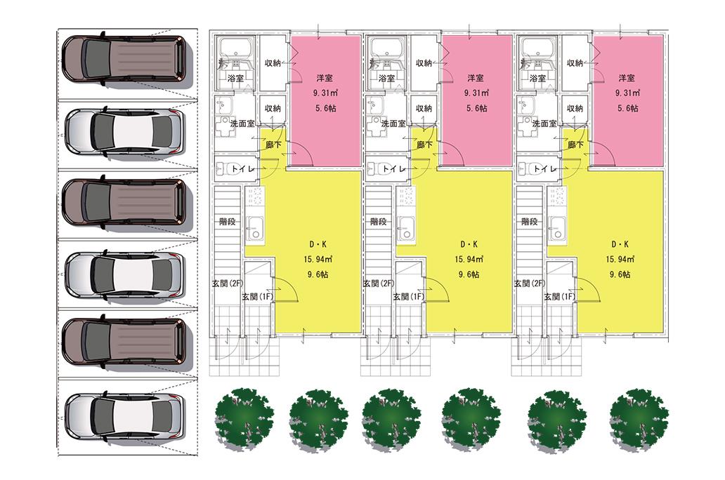 イメージ:賃貸アパート配置図